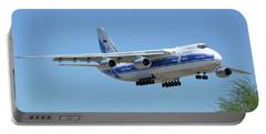 Portable Battery Charger featuring the photograph Volga-dnepr An-124 Ra-82068 Landing Phoenix Sky Harbor June 15 2016 by Brian Lockett
