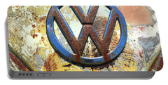 Volkswagen Vw Emblem With Rust Portable Battery Charger