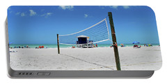Portable Battery Charger featuring the photograph Volley Ball On The Beach by Gary Wonning