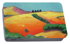Portable Battery Charger featuring the painting Voluptuous Windy Hill by Gary Coleman