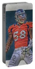 Von Miller Denver Broncos Art 1 Portable Battery Charger