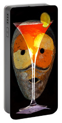Portable Battery Charger featuring the painting Voodoo Martini by David Lee Thompson