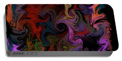 Portable Battery Charger featuring the digital art Vortex One by Iowan Stone-Flowers