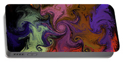 Portable Battery Charger featuring the digital art Vortex Two by Iowan Stone-Flowers