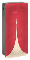 Vostok Rocket - Plain Red Portable Battery Charger