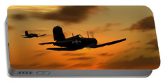 Vought Corsairs At Sunset Portable Battery Charger