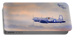 Vought F4u-1d Corsair Aircraft Portable Battery Charger by Bill Holkham