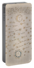 Voynich Manuscript Astro Sun And Moon 1 Portable Battery Charger