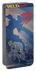 Portable Battery Charger featuring the digital art Vuelta Espana by Sassan Filsoof