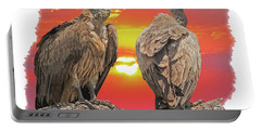 Vultures At Sunset Portable Battery Charger