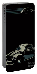 Portable Battery Charger featuring the digital art Vw Beatle by Sassan Filsoof