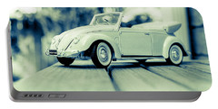 Vw Beetle Convertible Portable Battery Charger by Jon Woodhams