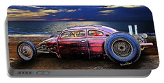 Rat Rod Surf Monster At The Shore Portable Battery Charger