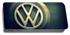 Vw Thing Emblem Portable Battery Charger by Joseph Skompski