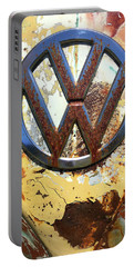 Vw Volkswagen Emblem With Rust Portable Battery Charger
