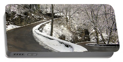 W Road In Winter Portable Battery Charger