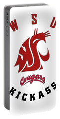 W S U Cougars Kickass Portable Battery Charger by Daniel Hagerman