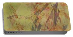 Wabi Sabi Ikebana Rose On Yellow Green Portable Battery Charger