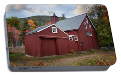 Portable Battery Charger featuring the photograph Wachusett Barn by Robin-Lee Vieira