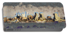 Wacky Philly Skyline Portable Battery Charger by Trish Tritz