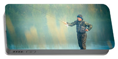 Wading For Trout Portable Battery Charger
