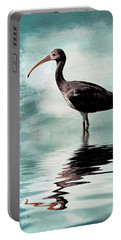 Wading Ibis Portable Battery Charger by Cyndy Doty