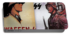 Waffen Ss Posters Dyptch Circa 1942-2016 Portable Battery Charger