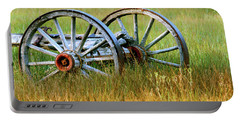 Wagon Wheels Portable Battery Charger by Melanie Alexandra Price