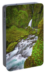 Portable Battery Charger featuring the photograph Wahclella Falls by Darren White