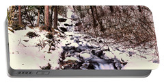 Portable Battery Charger featuring the photograph Wahkeena Falls In Ice by Jeff Swan