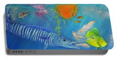 Wahoo Dolphin Painting Portable Battery Charger