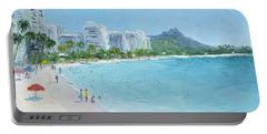 Waikiki Beach Honolulu Hawaii Portable Battery Charger