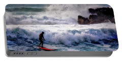 Portable Battery Charger featuring the photograph Waimea Bay Surfer by Jim Albritton