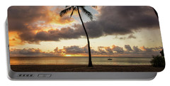 Waimea Beach Sunset - Oahu Hawaii Portable Battery Charger