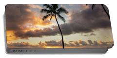 Waimea Beach Sunset - Oahu Hawaii Portable Battery Charger by Brian Harig