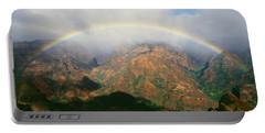 Waimea Canyon, Full Rainbow Portable Battery Charger