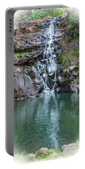 Waimea Waterfall Vignette Portable Battery Charger