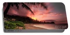 Wainiha Kauai Hawaii Bali Hai Sunset Portable Battery Charger