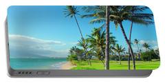Portable Battery Charger featuring the photograph Waipuilani Beach Kihei Maui Hawaii by Sharon Mau