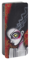 Waiting For  Frankenstein  Portable Battery Charger by Abril Andrade Griffith