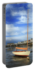 Waiting For The Tide Portable Battery Charger by Roupen  Baker
