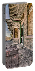 Portable Battery Charger featuring the photograph Waiting For The Train by Gaelyn Olmsted