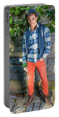 Young Man Waiting For You Portable Battery Charger