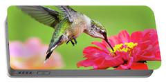 Waiting In The Wings Hummingbird Square Portable Battery Charger
