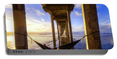 Waiting On Sunset, Scripps Pier, San Diego, California Portable Battery Charger