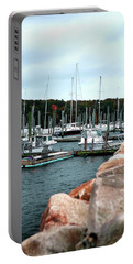 Waiting Out The Storm Portable Battery Charger by Lon Casler Bixby