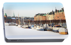 Portable Battery Charger featuring the photograph Waiting Out Winter by David Chandler