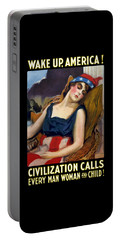 Wake Up America - Civilization Calls Portable Battery Charger