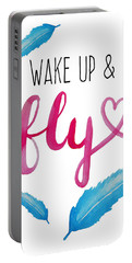Wake Up And Fly Watercolor Portable Battery Charger