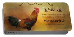 Wake Up Portable Battery Charger